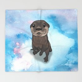 Otter Cuteness Throw Blanket