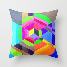 Spiral Hex Throw Pillow