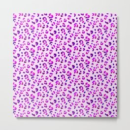 Pink Cheetah Stripes Funny Gift for Africa Lovers Metal Print