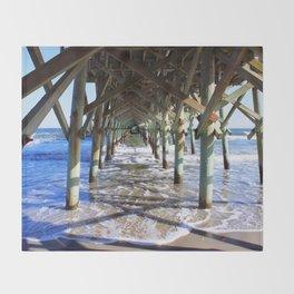 Under the Boardwalk Throw Blanket