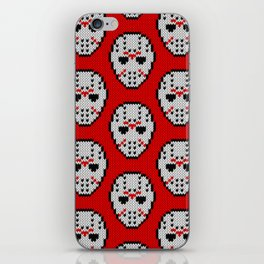 Knitted Jason hockey mask pattern iPhone Skin