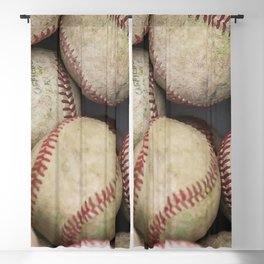 Many Baseballs - Background pattern Sports Illustration Blackout Curtain