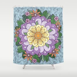[Wreath] Waiting for Spring Shower Curtain