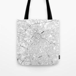 Charlotte White Map Tote Bag