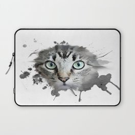 Cat Eyes Watercolor Laptop Sleeve