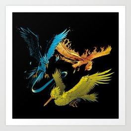The Three Legendary Birds Art Print