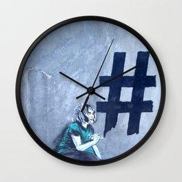 Graffiti Hashtag girl Wall Clock