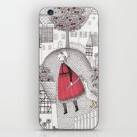 jazzberry iPhone & iPod Skins featuring The Old Village by Judith Clay