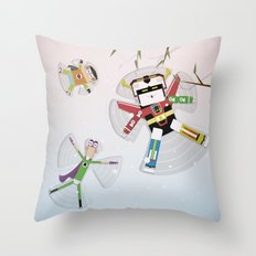 The Nick Yorkers in December Throw Pillow