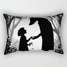 Meeting The Wolf Rectangular Pillow