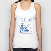 fishing Tank Tops featuring Fishing by AmazingVision