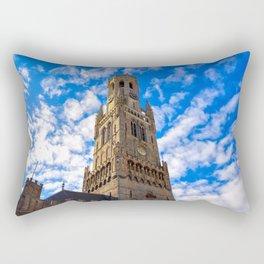 The Belfry of Bruges, Belgium Rectangular Pillow