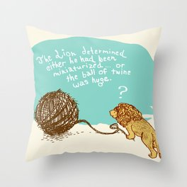 Unethical Mind Experiments on Miniaturized Animals Throw Pillow