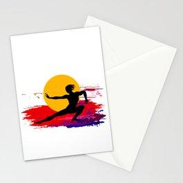 Martial art, karate, judo, aikido, self defence Stationery Cards