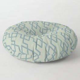 Soft Aqua Blue Green Tessellation Line Pattern 19 2021 Color of the Year Aegean Teal Salisbury Green Floor Pillow