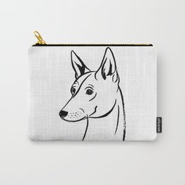 Basenji (Black and White) Carry-All Pouch