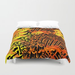 Nightmares:  City Asleep in the Raging Inferno Duvet Cover