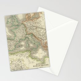 Vintage Map of The Roman Empire (1844) Stationery Cards