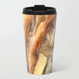 Leaves and Petals Autumn Abstract Watercolor Travel Mug