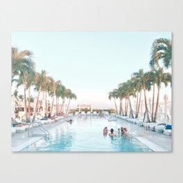 the swim Canvas Print