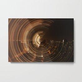 NY Swirl Metal Print