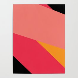Colorful Yoga mat Poster