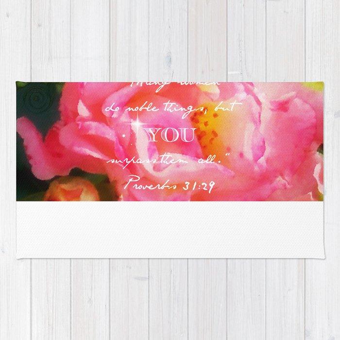 Roses Verse Rug By Anitafaye Society6