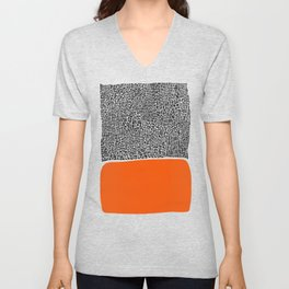 City Sunset Abstract Unisex V-Neck