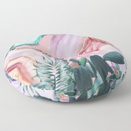 Mineral Agates & Garden #Glam collection Floor Pillow