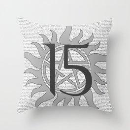 SPN Print (Grey) Throw Pillow