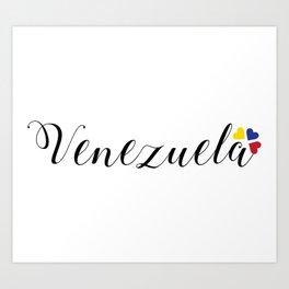 Venezuela lettering design Art Print