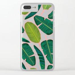 Banana Leaf Blush #society6 #decor #buyart Clear iPhone Case