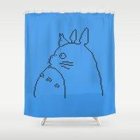 logo Shower Curtains featuring Logo by 8-bit Ghibli