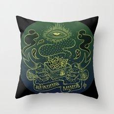 Reading minds / Mielofon Throw Pillow