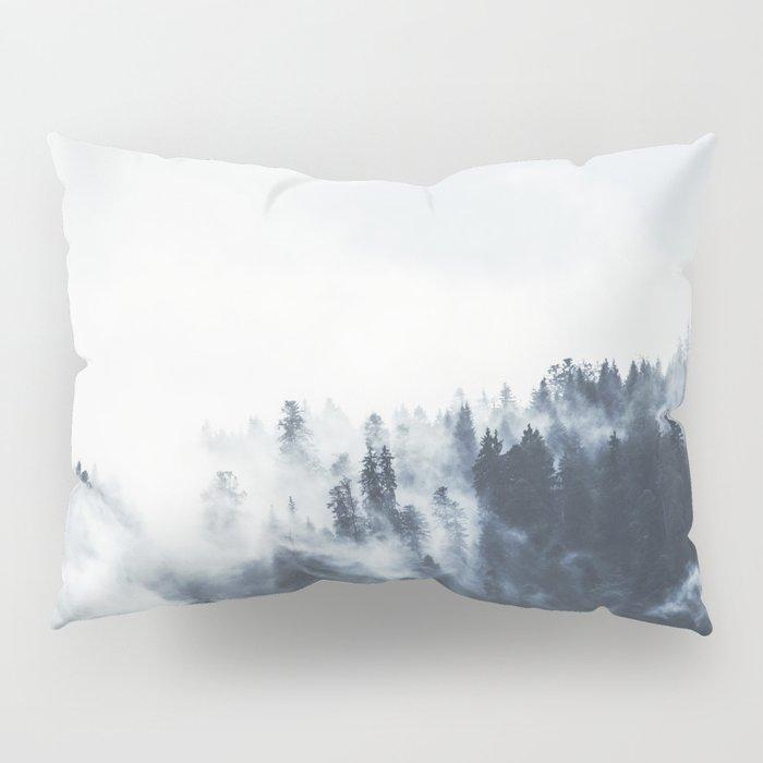 Foggy Forest Calm Landscape Pillow Sham