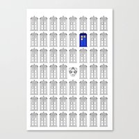 tardis Canvas Prints featuring Tardis by Megan Twisted