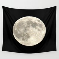 the moon Wall Tapestries featuring Moon by  Agostino Lo Coco