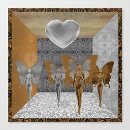Fairies Worshipping Love Canvas Print