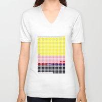 lichtenstein V-neck T-shirts featuring Girl with Hair Ribbon (Roy Lichtenstein) color-sorted by Clemens Hellmund