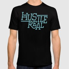 The Hustle is Real Mens Fitted Tee Black LARGE