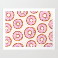 donut Art Prints featuring Donut by Ceren Aksu Dikenci