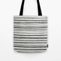 lace Tote Bags featuring Lace by Anita Ivancenko