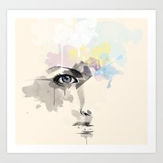 Beyond Her Tears  Art Print
