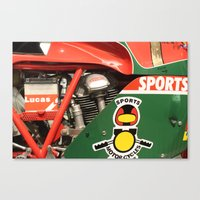 ducati Canvas Prints featuring Ducati Motor by Internal Combustion