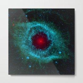 God's Eye Nebula (Helix Nebula) constellation Aquarius Deep Space Telescopic Photograph Metal Print