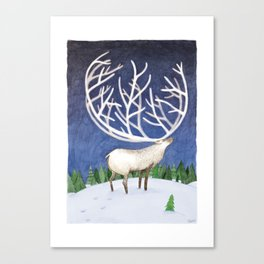 Peaceful Reindeer Canvas Print