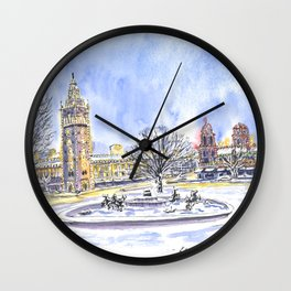 Kansas City The Plaza Lights in winter Wall Clock