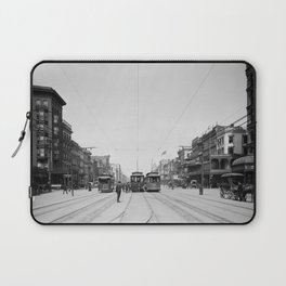 Vintage Canal Street New Orleans Streetcars 1907 Laptop Sleeve