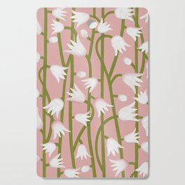 Climbing Lillies on Pink Cutting Board
