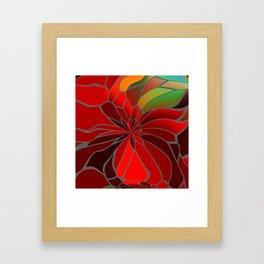 Abstract Poinsettia Gerahmter Kunstdruck